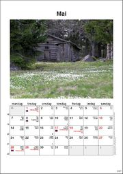 Norwegian calendar example